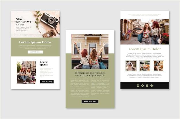 Modèle D'e-mail De Blogueur Moderne Avec Photo Vecteur Premium