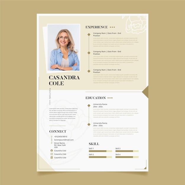 Modèle éditorial De Curriculum Vitae Vecteur Premium