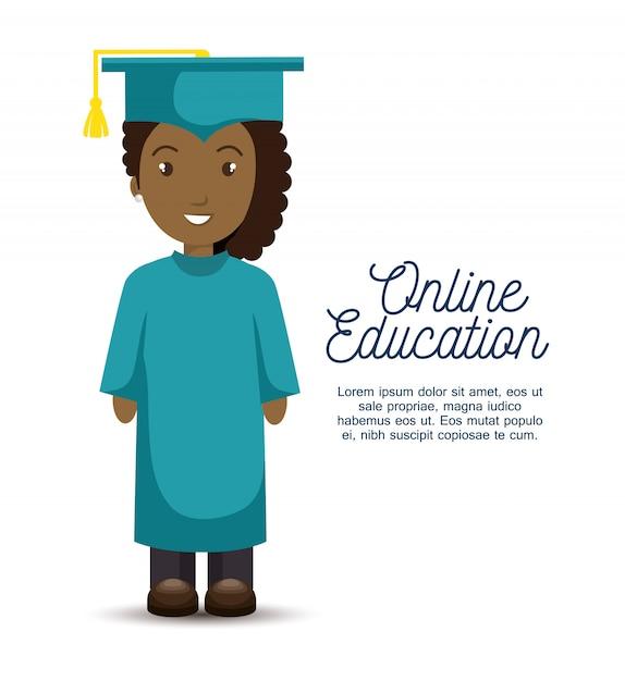 Modèle D'éducation En Ligne Vecteur gratuit