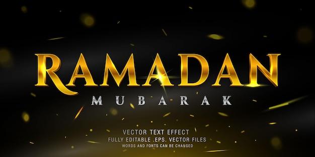Modèle D'effet De Style De Texte Cinématographique Ramadan Mubarak Vecteur Premium
