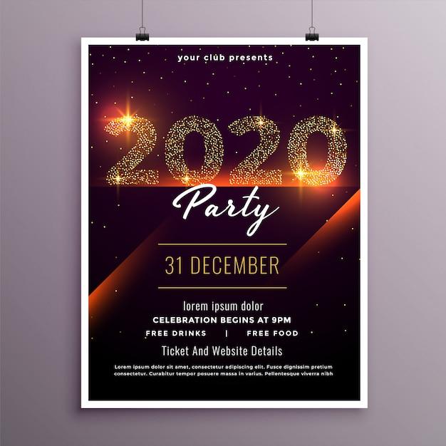 Modèle élégant De Flyer Party Bonne Année Vecteur gratuit