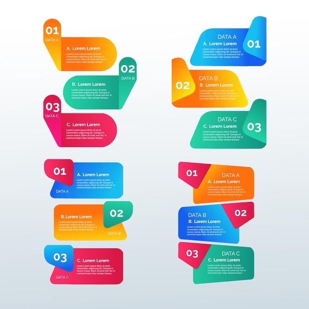 Modèle d'éléments d'infographie en dégradé Vecteur gratuit