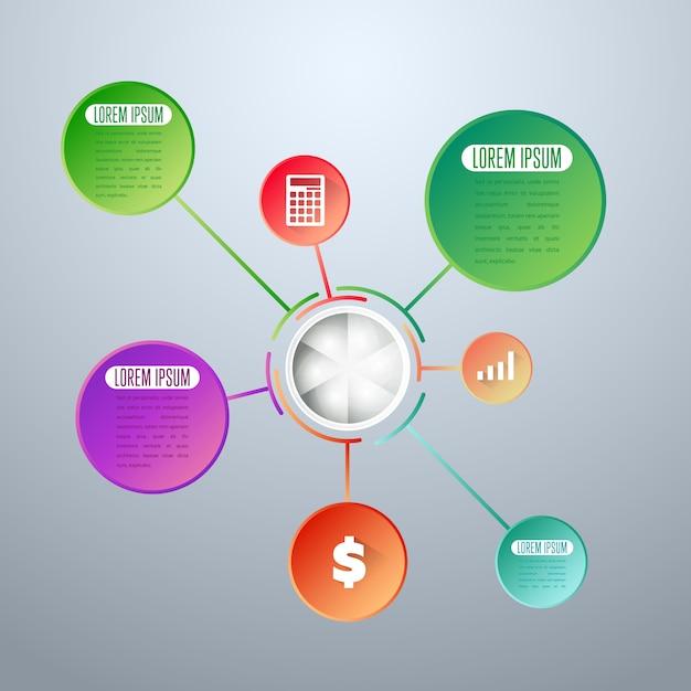 Modèle d'éléments d'infographie Vecteur Premium