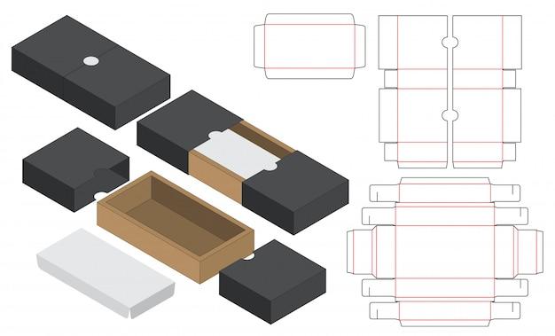 Modèle D'emballage De Boîte Découpée Vecteur Premium
