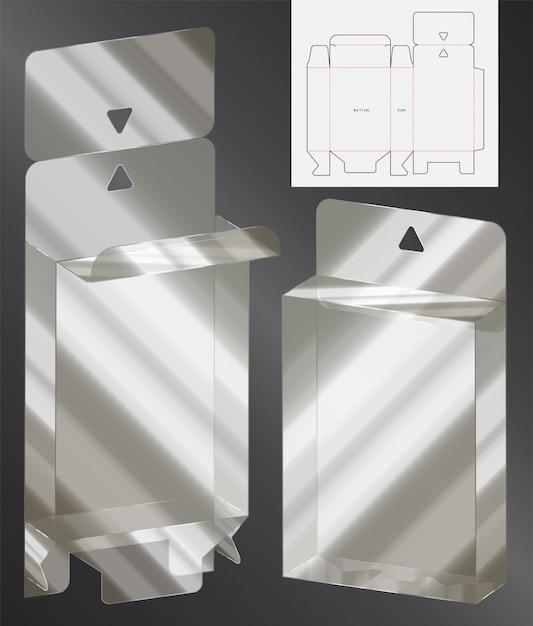 Modèle d'emballage découpé 3d Vecteur Premium