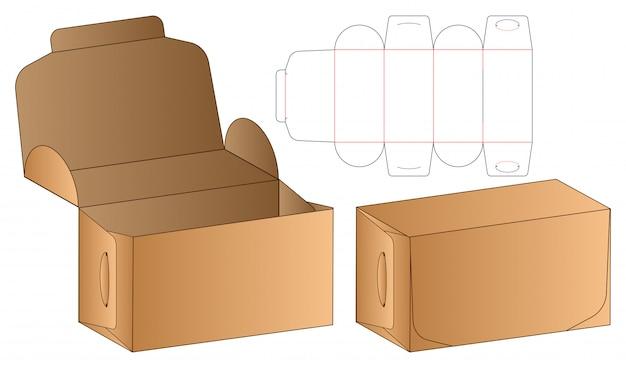 Modèle d'emballage découpé à la forme Vecteur Premium