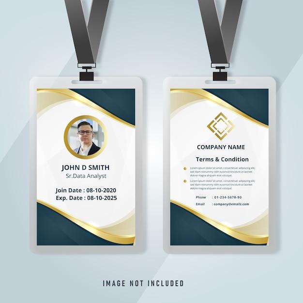 Modèle D'entreprise élégant De Carte D'identité Vecteur Premium