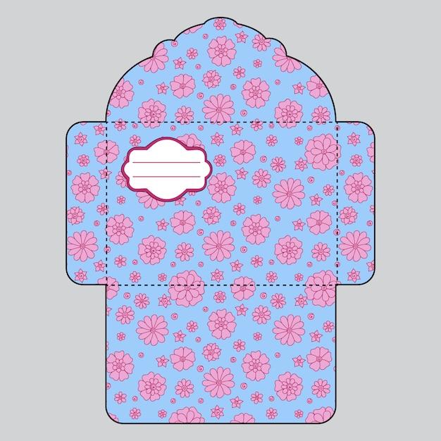Modèle D'enveloppe Florale Vecteur gratuit