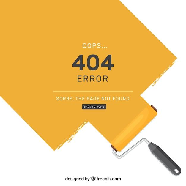 Modèle D'erreur Flat 404 Vecteur gratuit