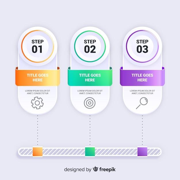 Modèle d'étapes de marketing par gradient organisationnel Vecteur gratuit