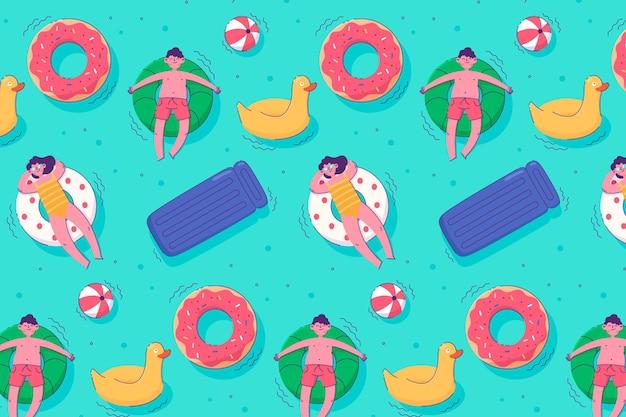 Modèle D'été Coloré Illustré Vecteur gratuit