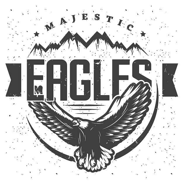 Modèle D'étiquette Vintage Majestic Eagle Vecteur gratuit