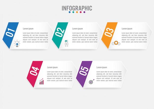 Modèle d'étiquettes infographie métier Vecteur Premium