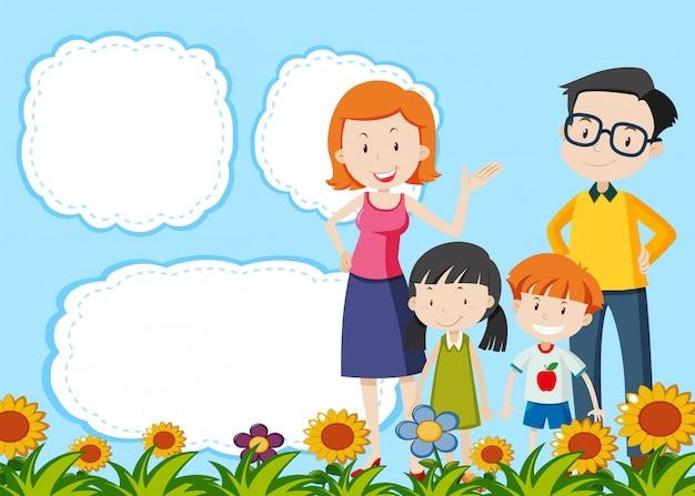 Modèle de famille sur note Vecteur gratuit