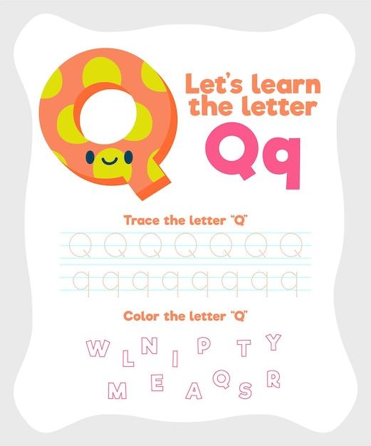 Modèle De Feuille De Calcul Lettre Q Vecteur gratuit