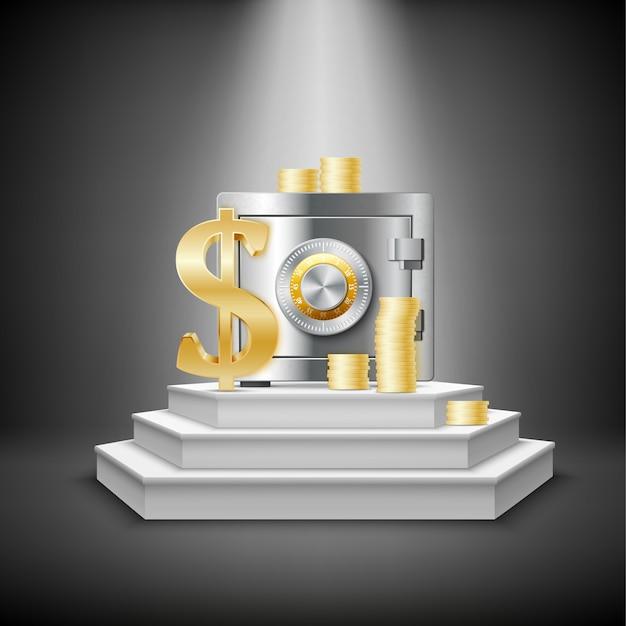 Modèle financier réaliste Vecteur gratuit