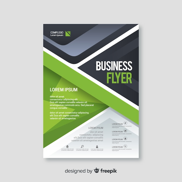 Modèle de flyer abstrait affaires Vecteur gratuit