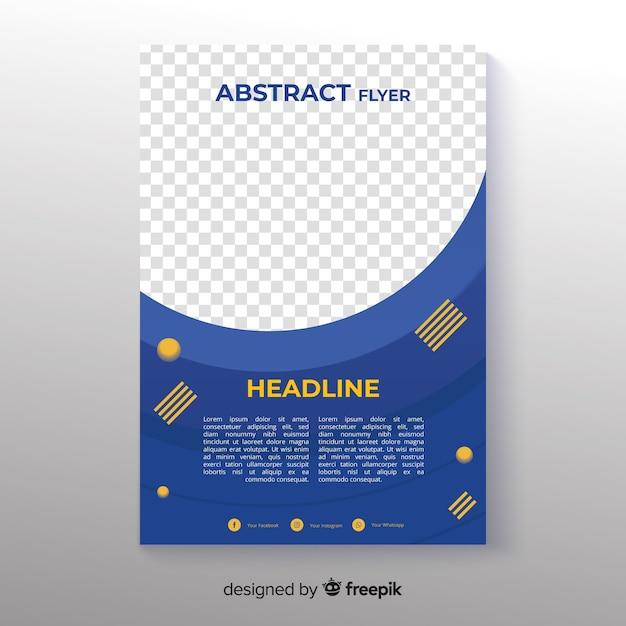 Modèle de flyer abstrait photographique Vecteur gratuit