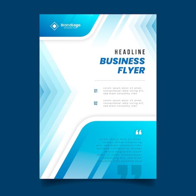 Modèle de flyer d'affaires abstrait coloré Vecteur gratuit