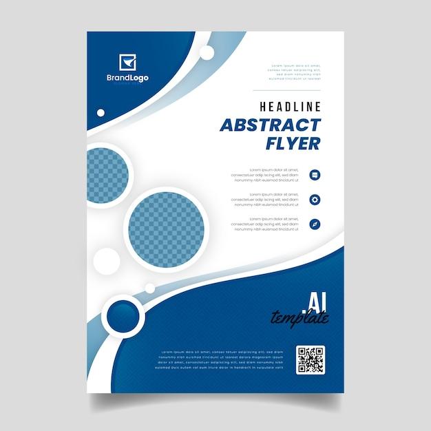 Modèle De Flyer Bleu Classique Abstrait Vecteur gratuit