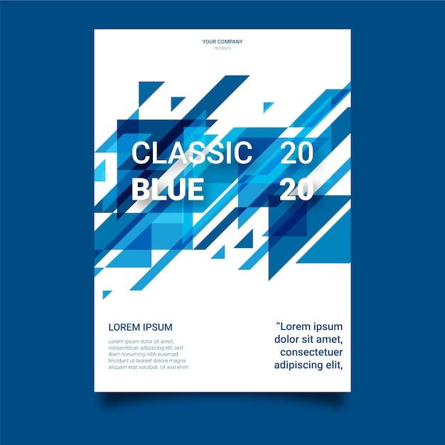 Modèle De Flyer Bleu Classique Vecteur gratuit