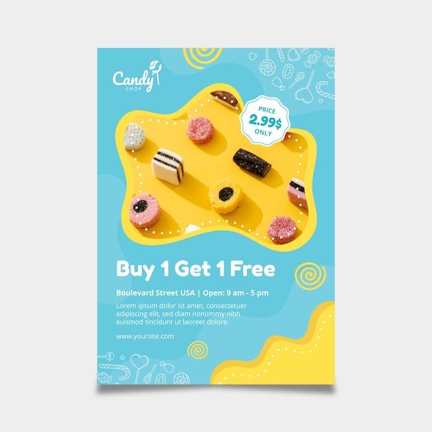 Modèle De Flyer De Bonbons Vecteur gratuit