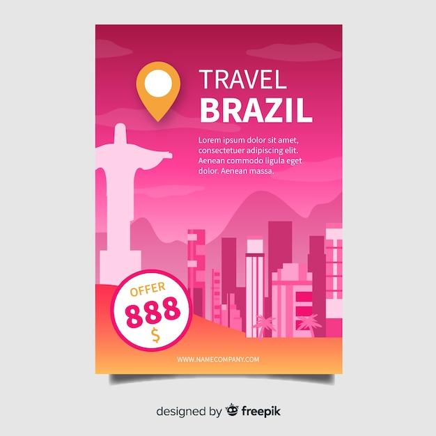 Modèle de flyer brésil Vecteur gratuit