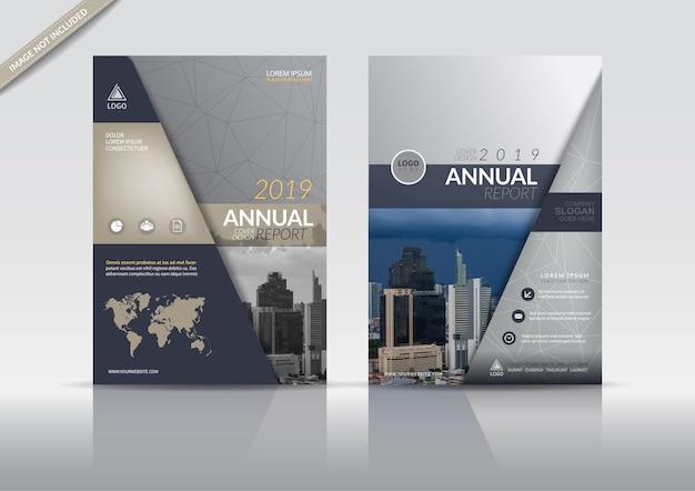 Modèle de flyer de brochure de couverture de rapport annuel. Vecteur Premium