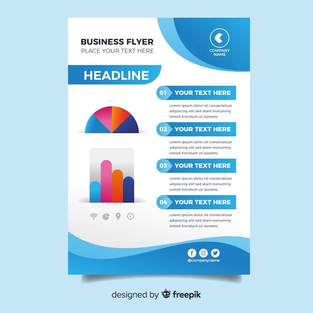Modèle De Flyer Business Design Plat Vecteur gratuit