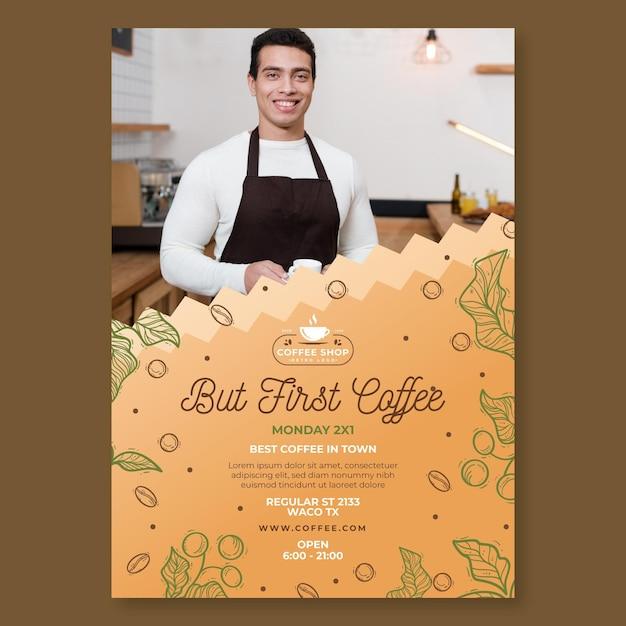 Modèle De Flyer De Café Vecteur gratuit