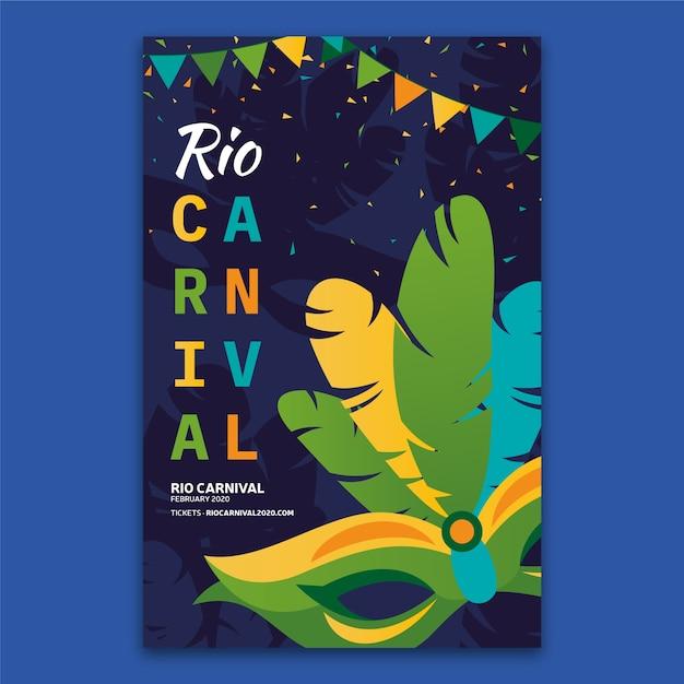 Modèle De Flyer De Carnaval Brésilien Vecteur gratuit
