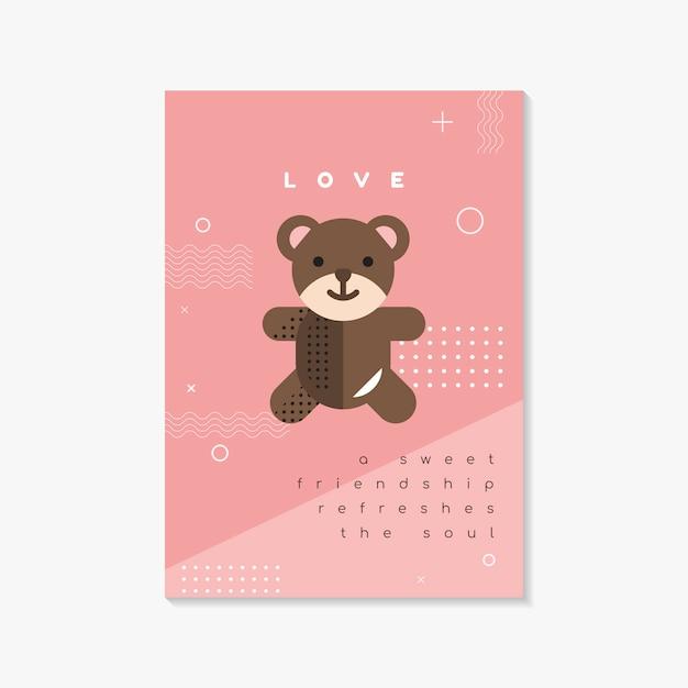 Modèle de flyer et carte de saint valentin Vecteur gratuit