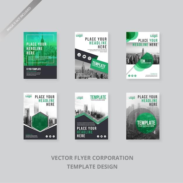 Modèle de flyer de collection Vecteur Premium