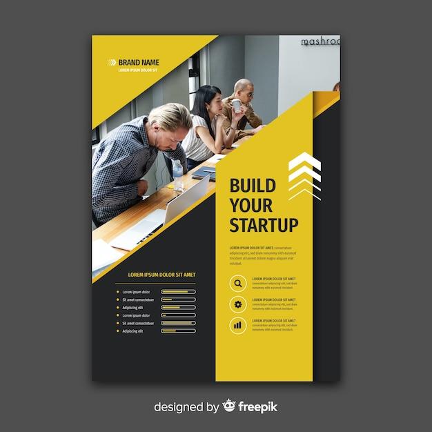 Modèle de flyer commercial avec photo Vecteur gratuit