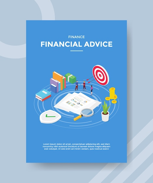 Modèle De Flyer De Conseils Financiers Vecteur gratuit