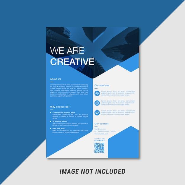 Modèle de flyer créatif Vecteur Premium