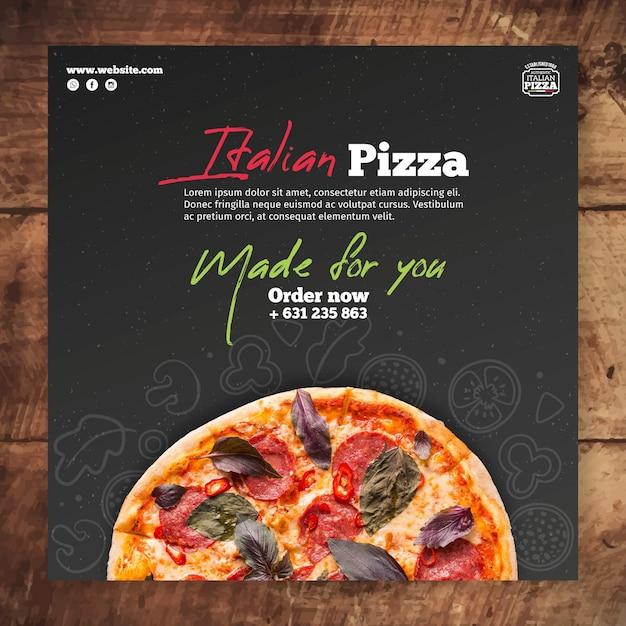 Modèle De Flyer De Cuisine Italienne Vecteur gratuit