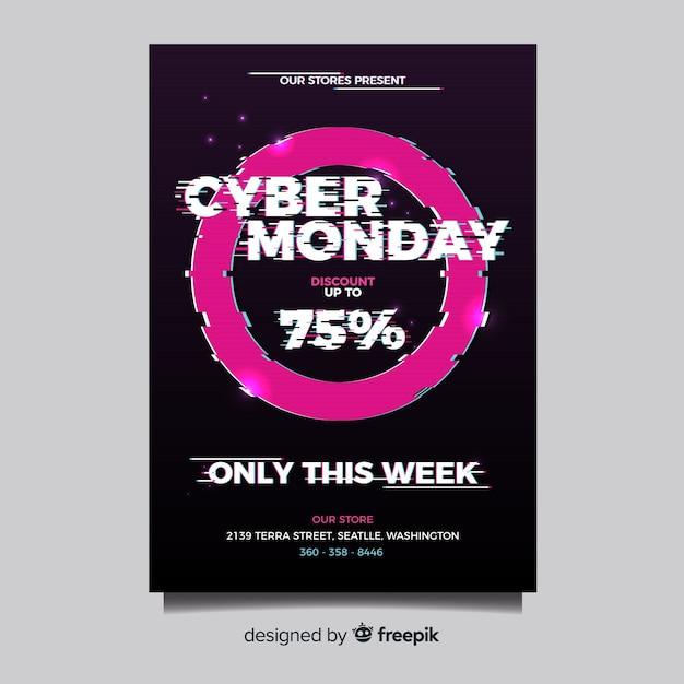 Modèle de flyer cyber lundi Vecteur gratuit