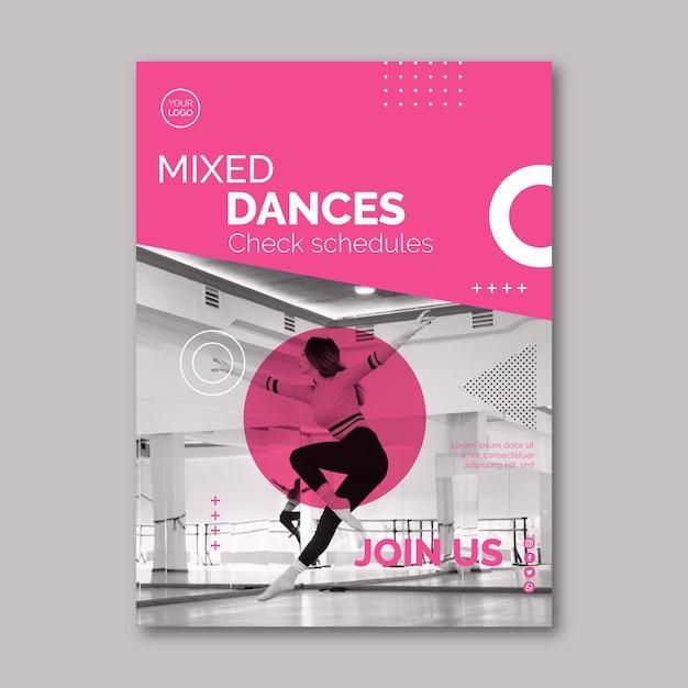Modèle De Flyer De Danse Vecteur gratuit