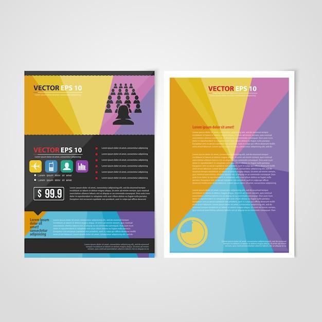 Modèle De Flyer Et Design Avant. Vecteur gratuit