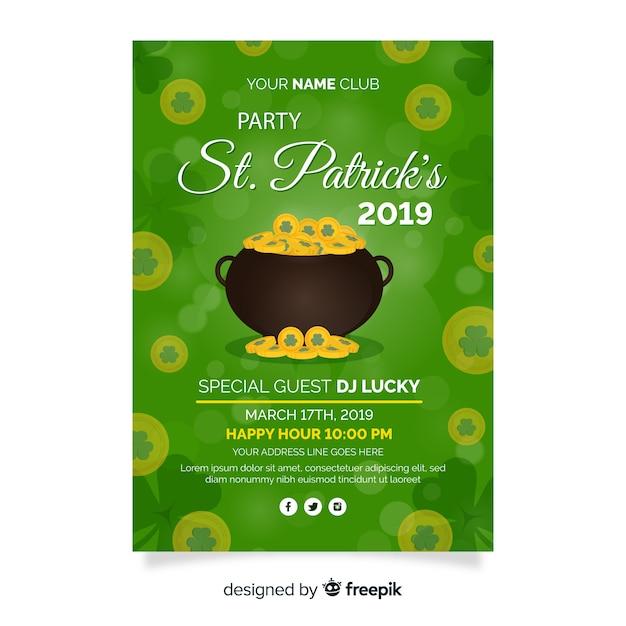 Modèle de flyer du jour de st. patrick Vecteur gratuit