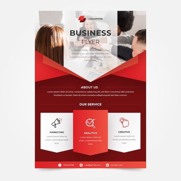 Modèle De Flyer D'entreprise Entreprise Travail D'équipe Vecteur gratuit