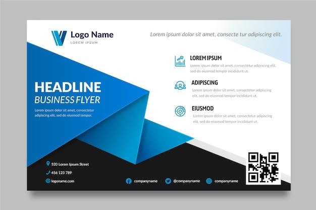 Modèle De Flyer D'entreprise Avec Des Formes Vecteur gratuit