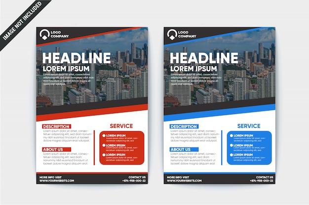 Modèle de flyer d'entreprise moderne Vecteur Premium