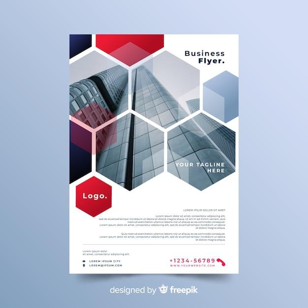 Modèle de flyer entreprise mosaïque colorée Vecteur gratuit