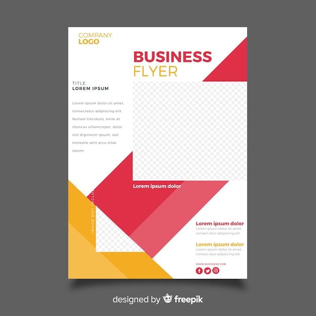 Modèle de flyer entreprise mosaïque avec espace de copie Vecteur gratuit