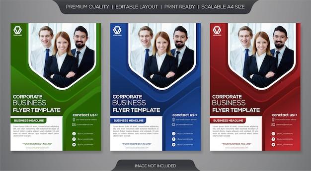 Modèle de flyer d'entreprise Vecteur Premium