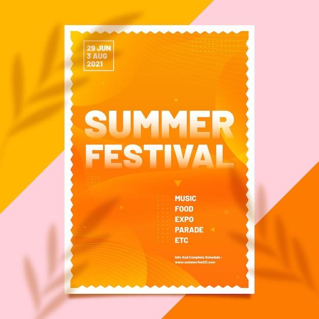 Modèle De Flyer De Festival D'été Vecteur gratuit