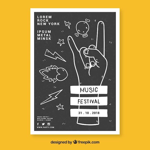 Modèle de flyer festival de musique Vecteur gratuit