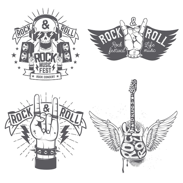 Modèle De Flyer Festival Rock Vecteur Premium